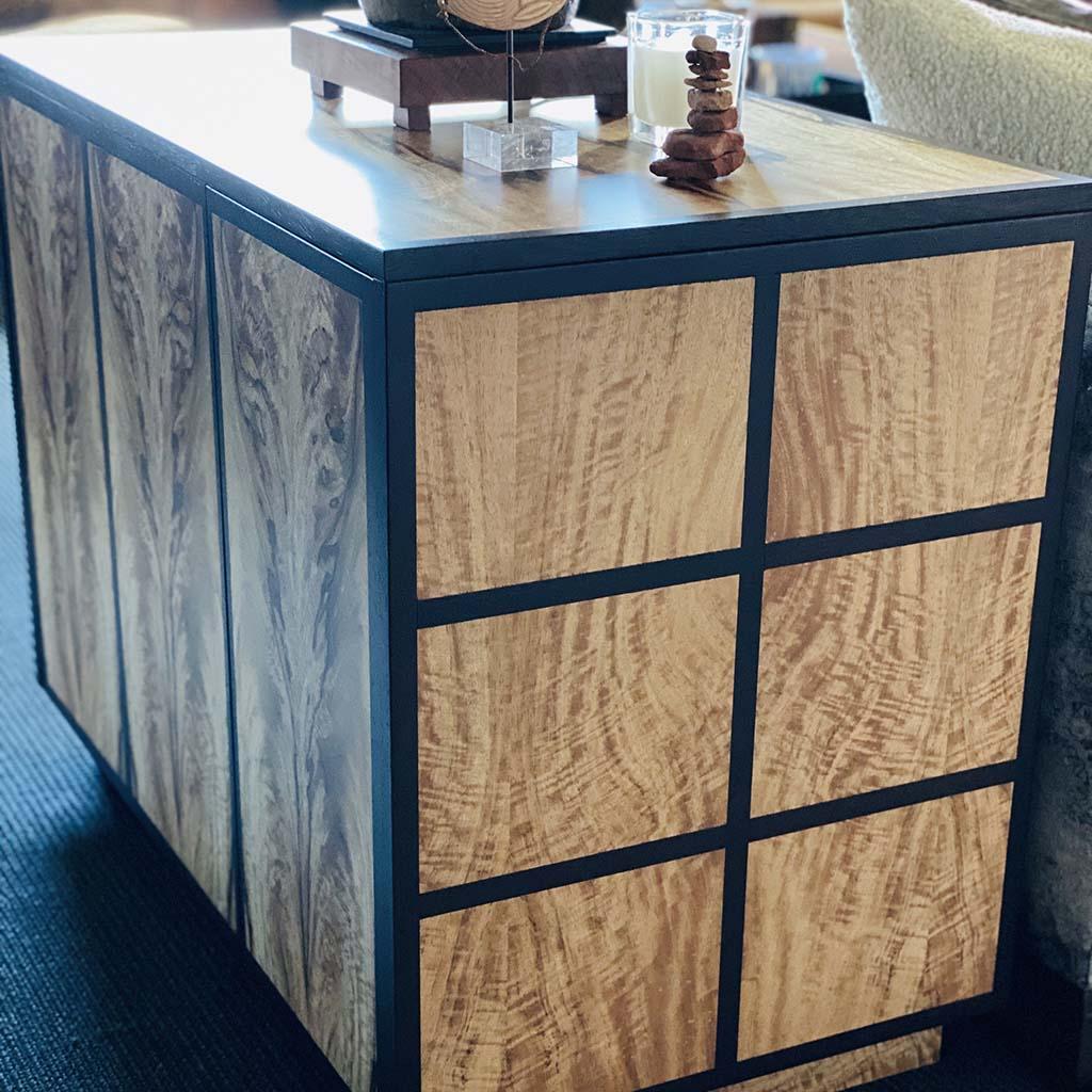 Custom kitchen counter cabinet by Radd Haferkamp